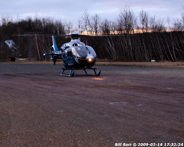 Medevac Landing, Hazle twp 2/16/09