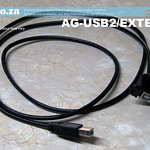 SKU: AG-USB2/EXTEND, USB Type-B Port, Printer Cable Extension with Screw Hole Panel Mount for CNC Control System