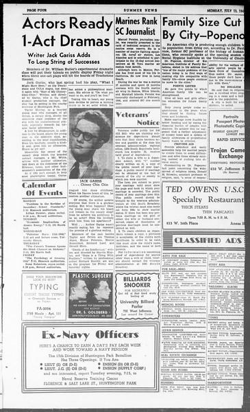 Summer News, Vol. 3, No. 9, July 12, 1948