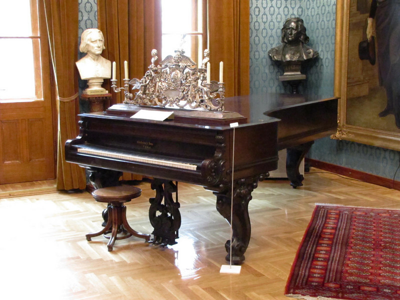 18-When we lived in Mill Valley, we had a Chickering baby grand piano just like this one made for Liszt, ...