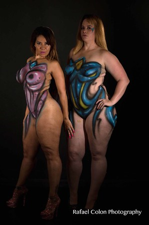 Queen Rogue & Virgo Body Paint Shoot 6-3-17