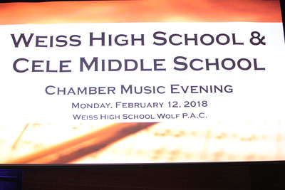 Weiss HS-Cele MS Chamber Music Performance 2-12, 19, 2018