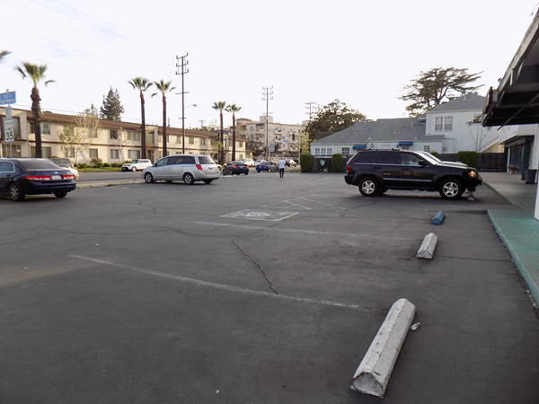 Strip Mall Parking lot