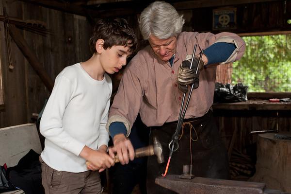 Blacksmithing at Malakoff Diggins State Park