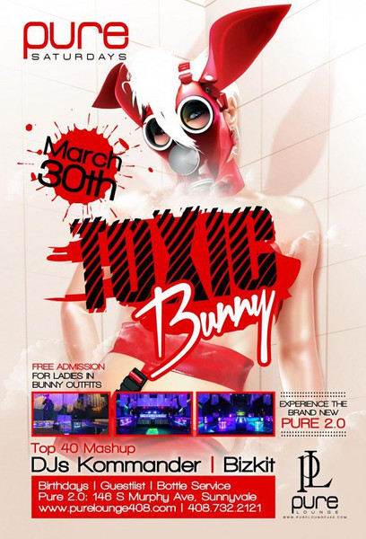 3/30 [Toxic Bunny@Pure Lounge]