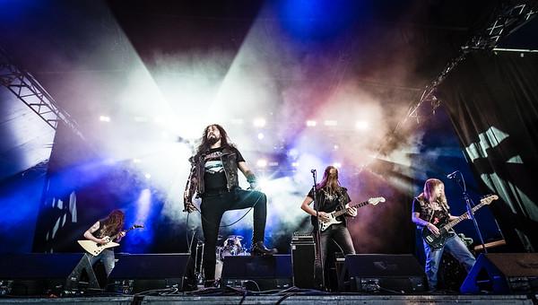 Black Viper performing at Tons Of Rock 2019