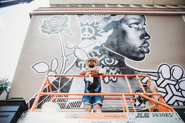 Adam Serrano- Tellus mural