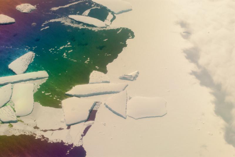 Thwaites Glacier Tongue through a polarized filter