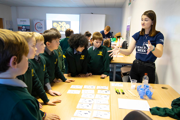 FREE TO USE IMAGE. Pictured during Science Week with WIT (Waterford Institute of Technology) by Calmast. Pictured during the Periodic table workshop at WIT with 4th class from Ballybeg NS. Picture: Patrick Browne