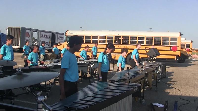 2017.09.23 Jasper Drumline Warmups 8