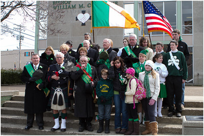 2013 Cleveland Saint Patrick's Day Parade - Singing of the National Anthems and Step-off