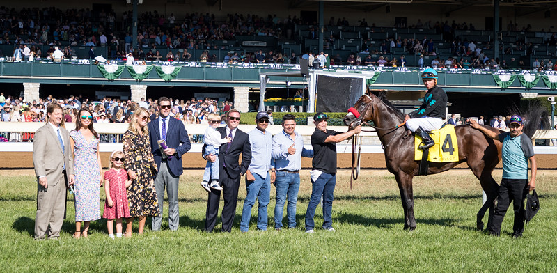 Stubbins (Morning Line) wins the Woodford (G2) at Keeneland on 10.5.2019. Joel Rosario up, Doug O'Neill trainer, McShane Racing owner.