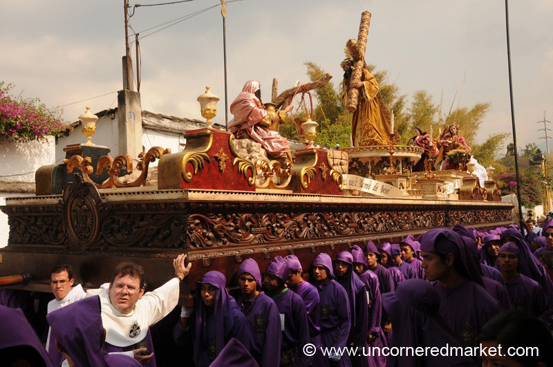 Semana Santa, Men's Float - Antigua, Guatemala