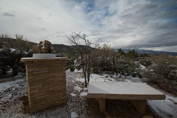 Garden artwork, Taos.