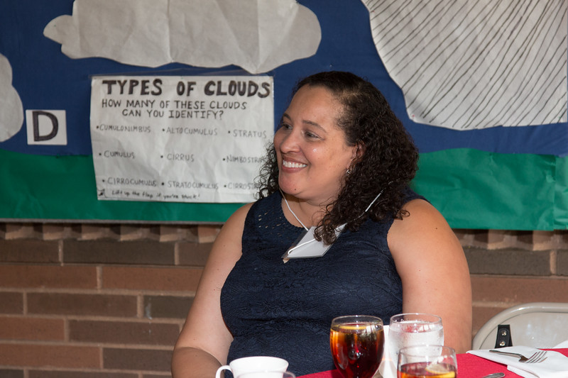 "Raquel Marshall (NASA/GSFC Education Office)  -- An award luncheon, ""Dr. John Mather Nobel Scholars Program Award"", as part of the National Space Grant Foundation. College Park Aviation Museum, College Park, MD, August 2, 2019."