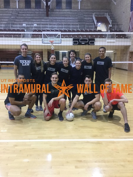 Spring 2018 Law Society Volleyball Runner Up Sutton Society