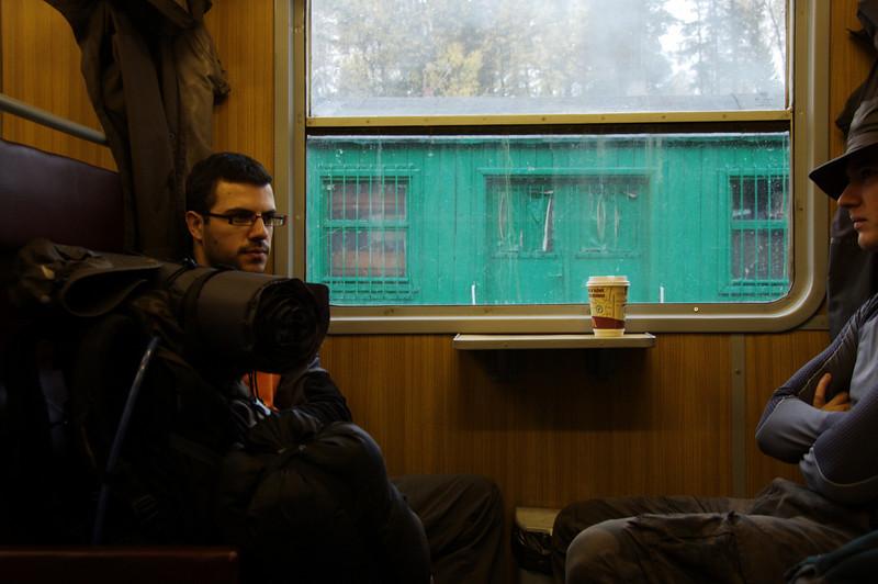 On the train to Malbork