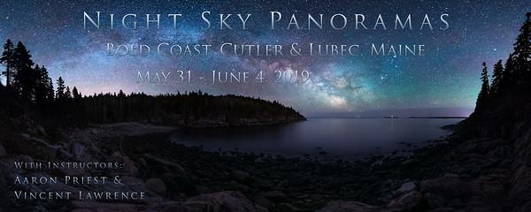 Night Sky Panoramas, May 31 - June 4, 2019