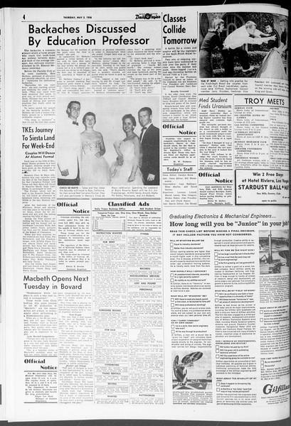 Daily Trojan, Vol. 47, No. 126, May 03, 1956