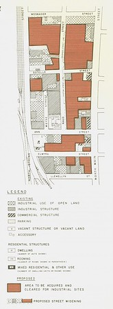 1954, Ann Street Redevelopment Map of Proposal