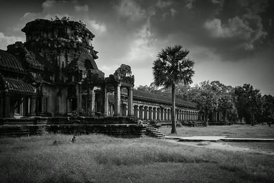 Cambodia in  black and  white