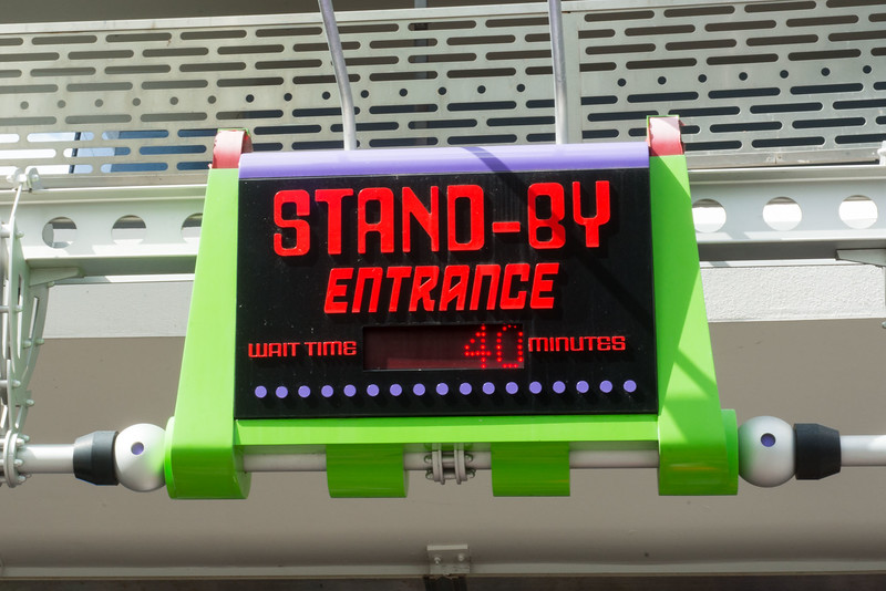 Buzz Lightyear Posted Wait Time - Magic Kingdom Walt Disney World
