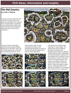 """Fibre Art Network article, May 2020 article """"The Old Country"""""""