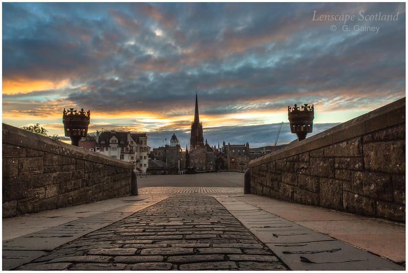 Dawn at Edinburgh Castle esplanade