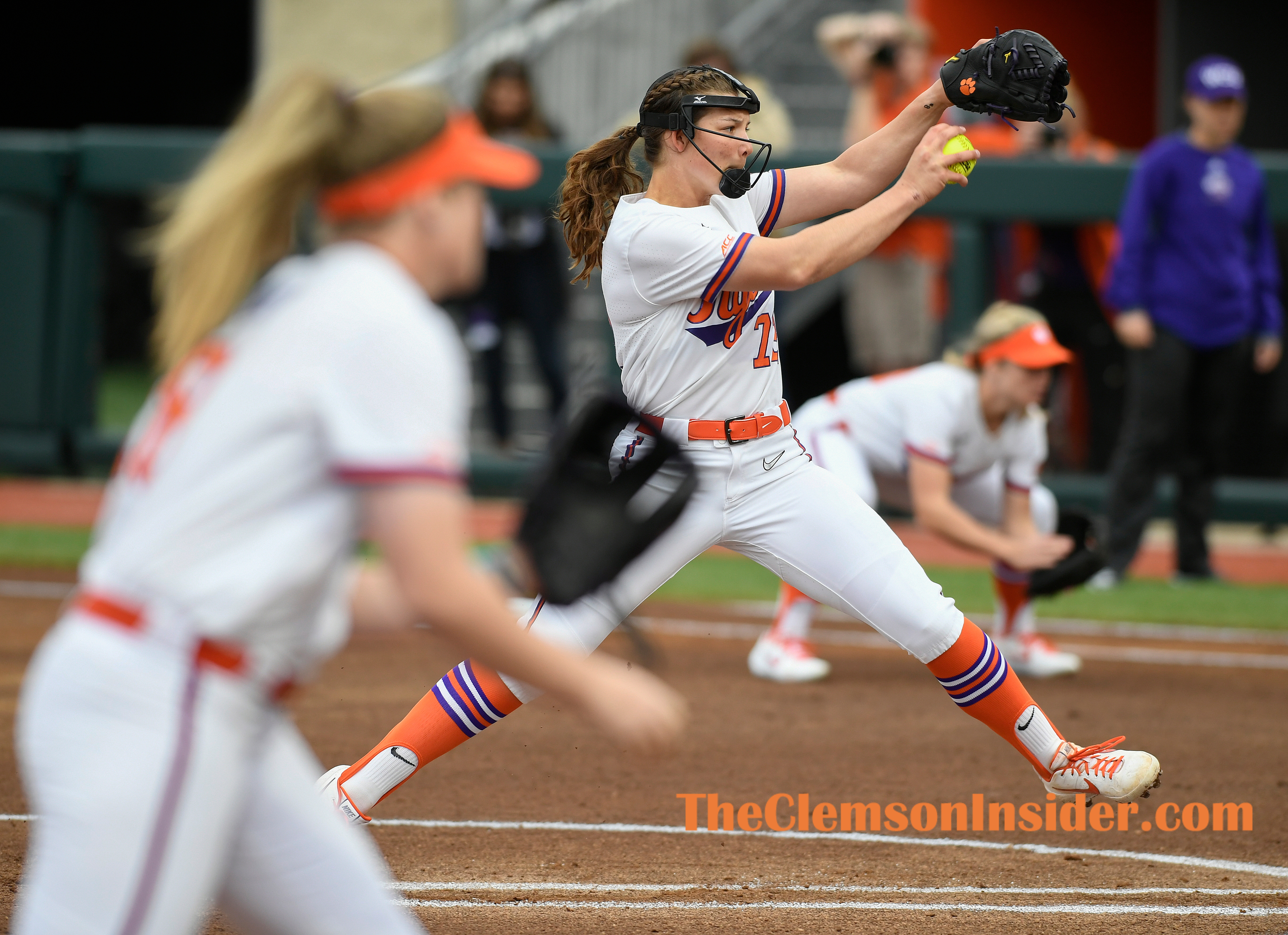Clemson's Valerie Cagle (72) pitches against Western Carolina Wednesday, January 12, 2020 at Clemson's Softball Stadium. Bart Boatwright/The Clemson Insider