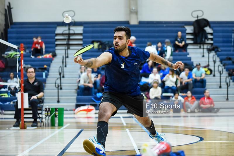 TORONTO, CANADA - Feb 16: during OCAA Badminton Championship at University of Toronto, Mississauga. Photo: Michael Fayehun/F10 Sports Photography