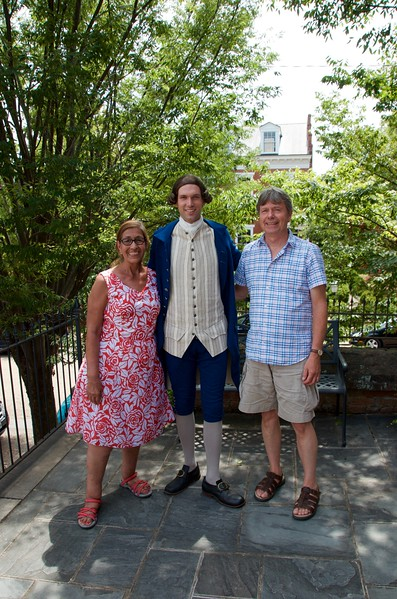 Posing with Patrick Henry