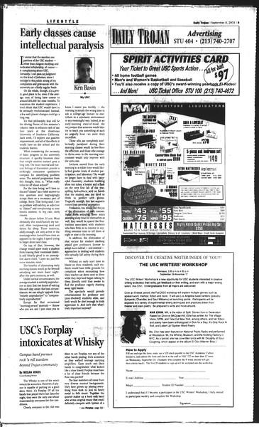 Daily Trojan, Vol. 150, No. 9, September 08, 2003