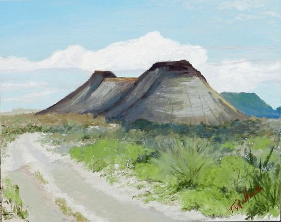 Terlingua Double Peaks  8x10 pastel