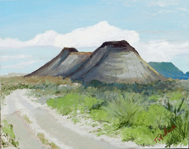 Terlingua Double Peaks  8x10 pastel @ CatchLight Art Gallery