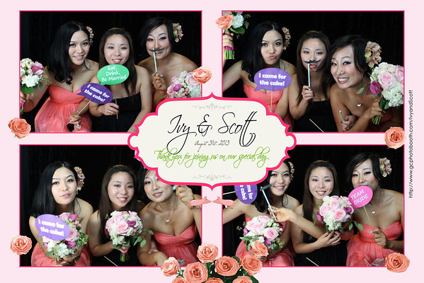Ivy and Scott Wedding Photo Booth Prints
