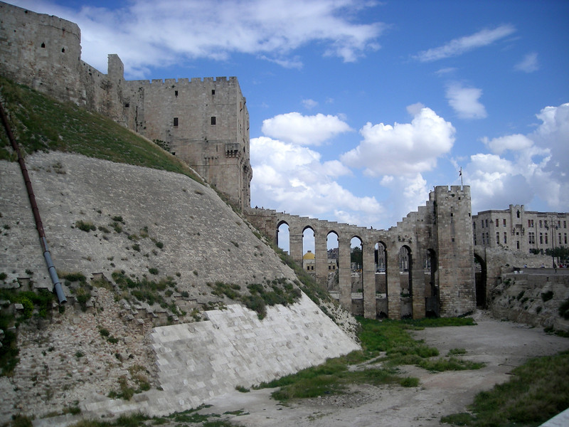 a view of the entryway to the Citadel, Aleppo