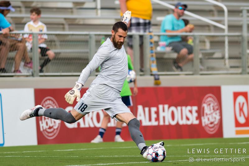 Nashville SC goalkeeper Matt Pickens (18)