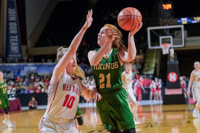 Oxford Hills' Julia Colby scores two points of an inbound steal.
