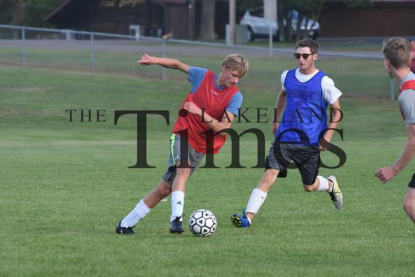 Lakeland Boys' Soccer Practice August 21, 2019