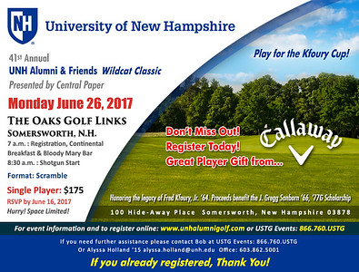 UNH Alumni & Friends Wildcat Classic presented by Central Paper