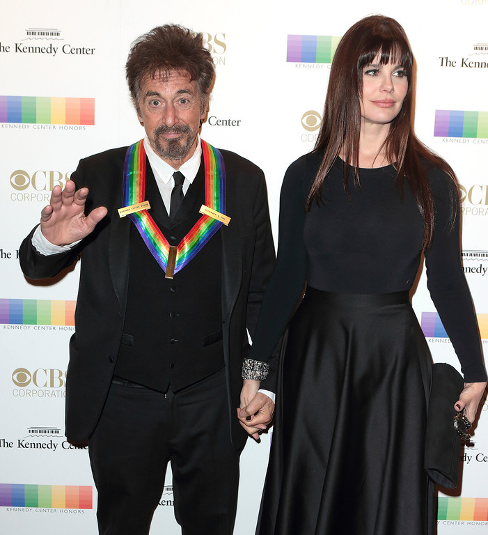 . 2016 Kennedy Center Honoree Al Pacino, left, and Lucila Sola attend the 39th Annual Kennedy Center Honors at The John F. Kennedy Center for the Performing Arts on Sunday, Dec. 4, 2016, in Washington, D.C. (Photo by Owen Sweeney/Invision/AP)