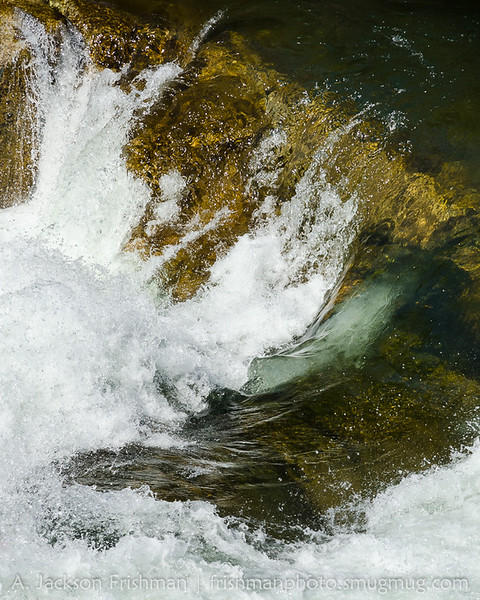 Glassy pool turns to whitewater, Tuolumne River, Yosemite National Park