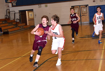 AMHS Boys JV Basketball vs LTS photos by Gary Baker