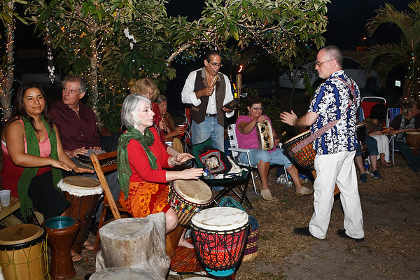Bonfire Drum Circle - PremShakti & Michael Goodman 2009