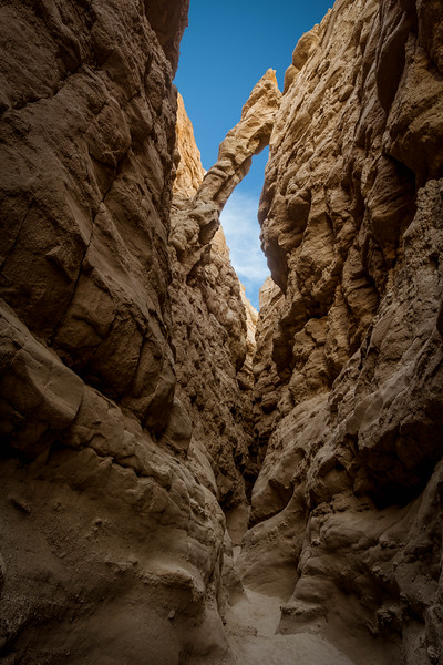 The Bridge in Slot Canyon - Anza-Borrego State Park, CA, USA