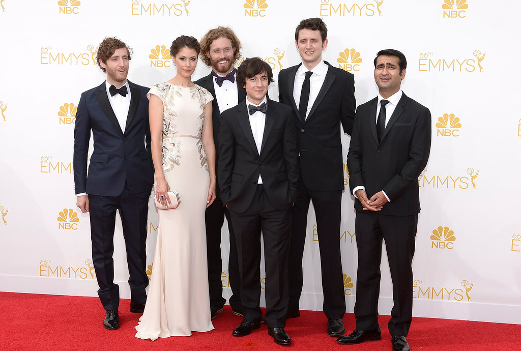 . The cast of Silicon Valley on the red carpet at the 66th Primetime Emmy Awards show at the Nokia Theatre in Los Angeles, California on Monday August 25, 2014. (Photo by John McCoy / Los Angeles Daily News)