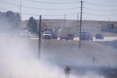Highway 83 & Bayou Gulch Brush Fire
