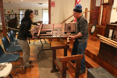 Early American tool exhibit and demo