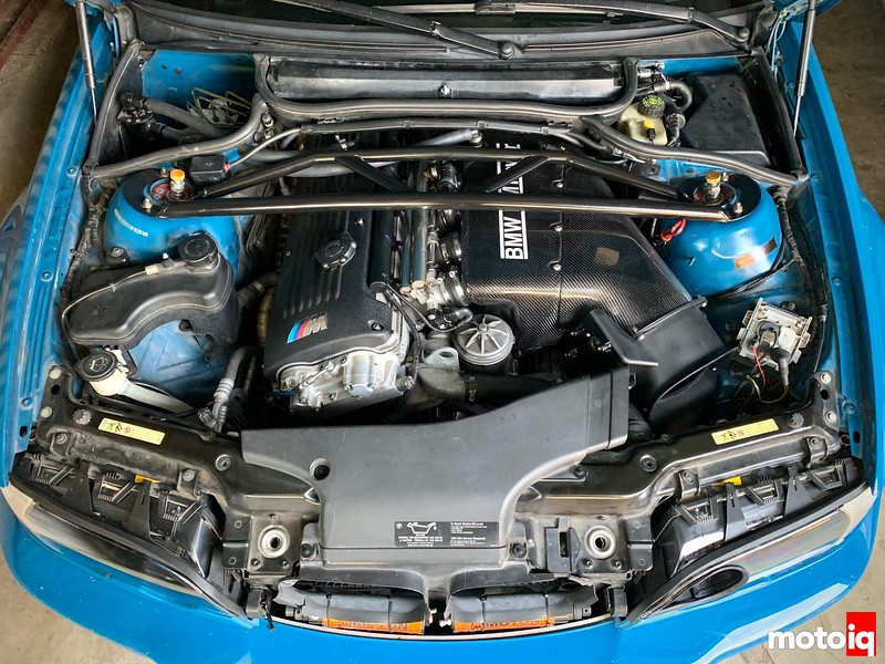 BMW E46 M3 S54 engine bay