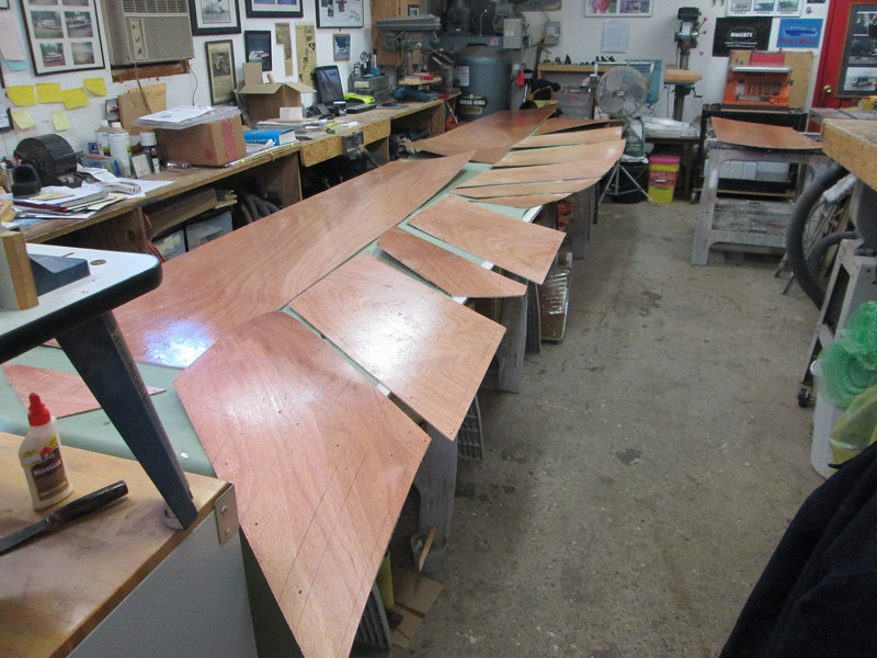 Coating the inside of the plywood with epoxy.